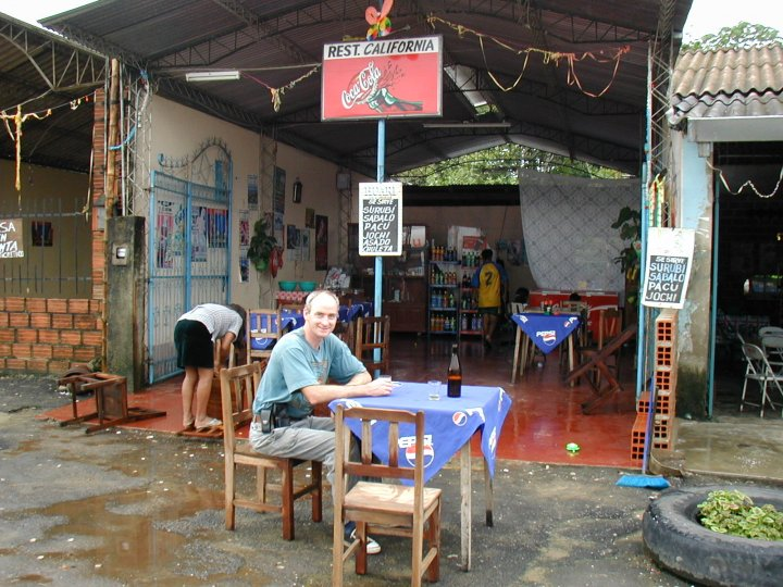 The nearest I have been to California – roadside refreshments in Bolivia.